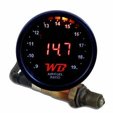 APSX V2 Anti-Glare D2 Digital Wideband O2 AFR Gauge & Sensor Kit Black & Red LED