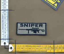 """Ricamata / Embroidered Patch """"Sniper"""" Coyote Tan with VELCRO® brand hook"""
