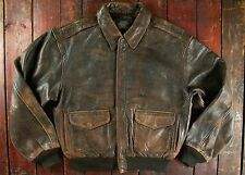 VTG '87 AVIREX USAAF TYPE A-2 LEATHER FLIGHT BOMBER JACKET MEDIUM
