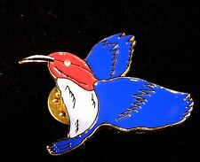 Enamel Hummingbird Brooch Bird Coat Sweater Pin Patriotic Nature Jewelry