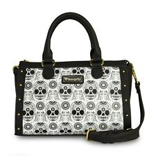Sugar Skull Duffle Bag Handbag - Black & White by Loungefly NEW! FREE SHIPPING!