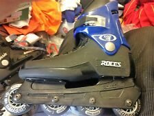 ROCES INLINS SKATES FCO ROME SIZE 8 UK LONG RIDER AT £45 BNWL BLACK/BLUE