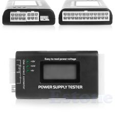 POWER SUPPLY TESTER LCD COMPUTER PC 20/24 4/6/8 PIN FOR SATA IDE HDD ATX ITX BTX