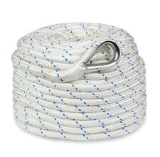 """New 150'x3/8"""" Braided Nylon Boat Anchor Rope/Line with Thimble"""