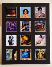 "PRINCE 14"" BY 11"" LP DISCOGRAPHY COVERS PICTURE MOUNTED READY TO FRAME"