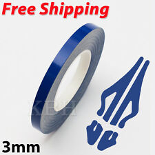 "3mm 1/8"" Pin Stripe Pinstriping Soild Line Tape Decal Sticker Car Navy Dark Blue"