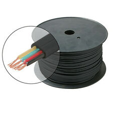 Eagle 1000' FT Flat Telephone Modular Cable Black 4 Conductor Wire Copper 28 AWG