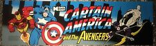 "Captain America and the Avengers Arcade Marquee 27""x8"""