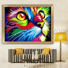 5D DIY Peinture Diamant Chat Point De Croix Broderie Cristal Mural Décor Maison