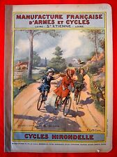MANUFRANCE de 1912  Ancien Catalogue CYCLE VELO HIRONDELLE Bicycle FAHRRAD Retro