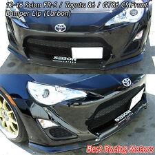 12-16 Scion FR-S CS Bottom Line Style Front Bumper Lip (Carbon)