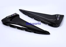 Gloss Black Side Marker Fender Air wing Vent trim For BMW X5 F15 2014 2015 2016