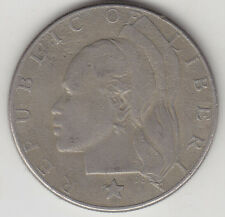 Liberia  - One ( 1 ) Dollar Coin - 1968 - Large Coin