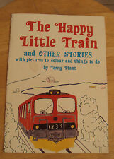 THE HAPPY LITTLE TRAIN~ca. 1980~Child's Book~SIGNED~Nordic~Terry Plant~Denmark~