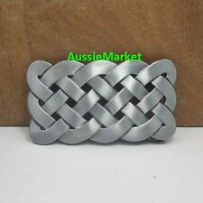 1 x mens belt buckle ladies jeans denim fashion silver celtic mesh metal pewter