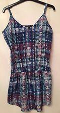 Forever 21 Blue Patterned Dress, Large Size