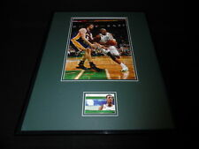 Paul Pierce 16x20 Framed Game Used Jersey & Photo Display Boston Celtics