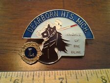 LIONS CLUB COLLECTORS PIN DEARBORN HTS. MICH. KNIGHTS OF THE BLIND MAN ON HORSE