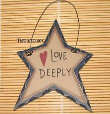 Country Decor Star Wood Sign Heart Love Deeply Buy 2 get 1 Free mix match