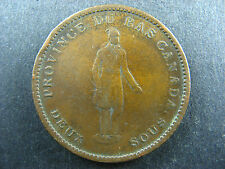 LC-9B4 One Penny token Deux sous 1837 Bas Lower Canada Quebec Bank Breton 521