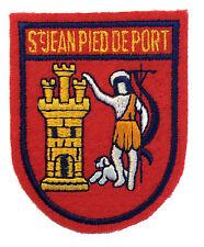 St. Jean Pied De Port Felt Crest Badge Patch France APPLIQUE French Souvenir