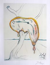Salvador Dali TEARFUL SOFT WATCH Facsimile Signed & Numbered Lithograph