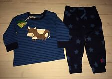 NWT Joules Boutique UK Brand Byron Cow Baby Boy Outfit 6 9 Months Free Shipping
