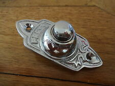 """VICTORIAN STYLE CHROME BELL PUSH"" DOOR DOORBELL KNOBS KNOCKER HANDLES PLATES"