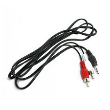 Adapter Cable 3.5mm M/M to AV RCA Audio Y for ipod Computer MP3 Brand New