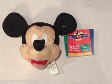 RARE mickey mouse plush head CHEERFUL MELODY BEANBAG sings its a small world NEW