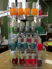 SPINNING RACK/DISPLAY,64 BOTTLES NAIL POLISH-OPI,ESSIE,ORLY,CHINA GLAZE