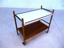 Mid-Century TEEWAGEN Servierwagen TEA TROLLEY vintage bar cart RACK  | 60er 60s