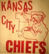 Vintage 1968 Kansas City Chiefs Iron On Transfer National Football League RARE!