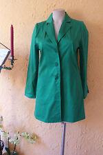 WILLI'S Hamburg Long Jacke Blazer Gr. 38 NEU grün Baumwolle