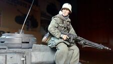 tank rider german 1 soldier scale 1:16 resin kit 120 mm