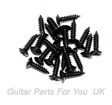 BLACK  Electric Guitar SCRATCH PLATE SCREWS 20 pack ST TL LP acoustic electric