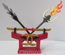 Playmobil dragon castle/chevaliers extras: stand avec oriental armes neuf