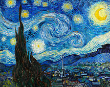 Starry Night by Vincent van Gogh A2+ High Quality Canvas Art Print