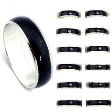 Wholesale Jewelry Lots 10pcs Stainless steel Change color mood rings Funny