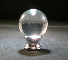 LAMP FINIAL-ORB CRYSTAL LAMP FINIAL WITH POL. CHROME BASE