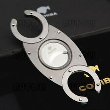 COHIBA Pocket Stainless Steel Double Blades Cigar Cutter/Guillotine