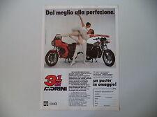 advertising Pubblicità 1982 MOTO MORINI 350