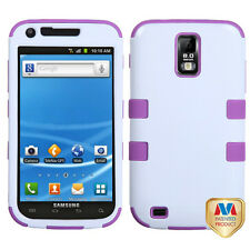 for Samsung Galaxy S2 T989 (T-Mobile) Purple White Hard & Soft Hybrid Armor Case