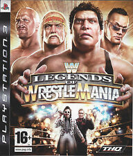 WWE LEGENDS OF WRESTLEMANIA for Playstation 3 PS3 - with box & manual