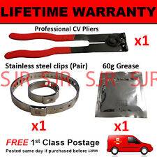CV BOOT CLAMPS PAIR INNER & OUTER x1 CV GREASE x1 EAR PLIERS x1 KIT4.1