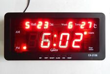 Caixing CX 2158 Digital LED Alarm Clock New Electronic Backlight Time
