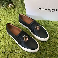 NIB Givenchy Dog Print Black Leather Espadrilles size 35