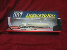 JAMES BOND LICENCE TO KILL RARE CORGI KENWORTH TANKER TRUCK