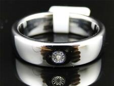 Mens Tungsten Carbide Diamond Satin Finish Wedding Band Engagement Ring 6mm