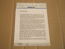 The HOOTERS-MCA Press News-PROMO info - 1993